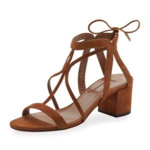 NWT Aquazzura suede block heel sandal size 6